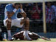 Młody Argentyńczyk po meczu długo nie mógł dojść do siebie (fot. Getty)