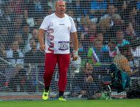 Szymon Ziółkowski w swojej najlepszej próbie posłał młot na odległość 77,10 m (fot. PAP/Adam Ciereszko)