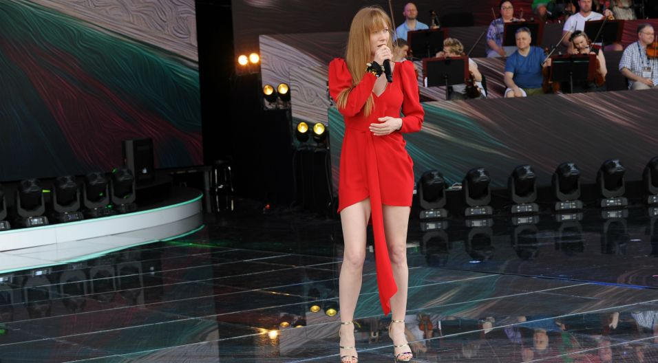 ...oraz Katarzyna Dąbrowska, którzy oprócz solowych występów, zaśpiewają też w ducie (fot. N. Młudzik/TVP)