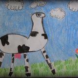Maria Raciborska (6 lat) narysowała Cielaka