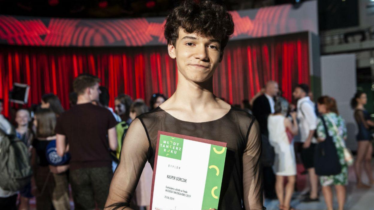 Kasper Górczak otrzymał nagrodę specjalną (fot. N. Młudzik/TVP)