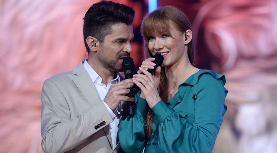 Duet Łukasza Zagrobelnego i Katarzyna Dąbrowskiej wzbudził wiele emocji (fot. J. Bogacz/TVP)