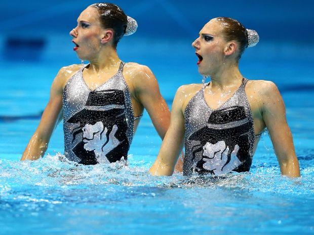 Swietłana Romaszina i Natalia Iszczenko nie miały sobie równych (fot. Getty Images)