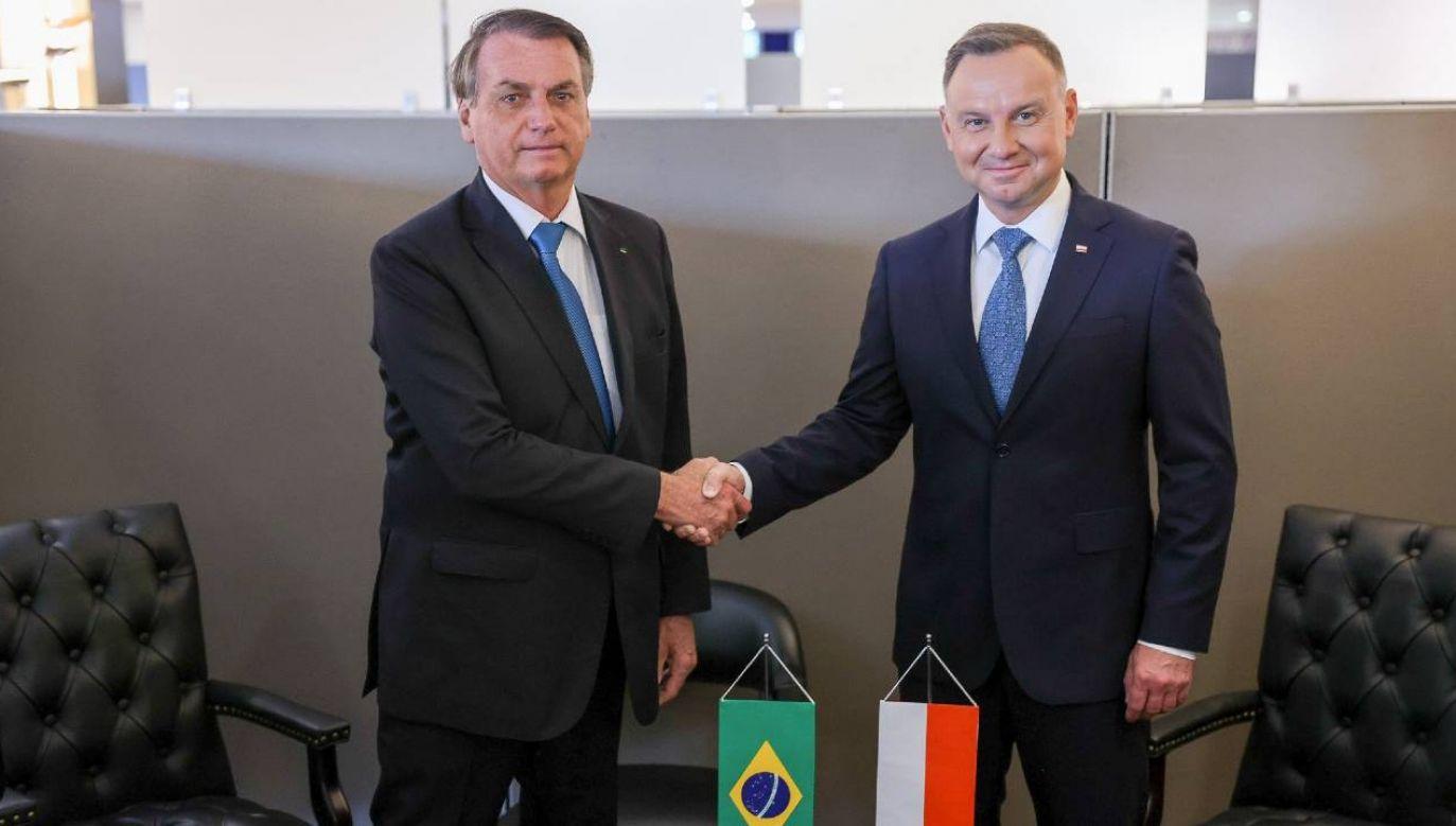 Jair Bolsonaro i Andrzej Duda rozmawiali w Nowym Jorku (fot. KPRP/Jakub Szymczuk)