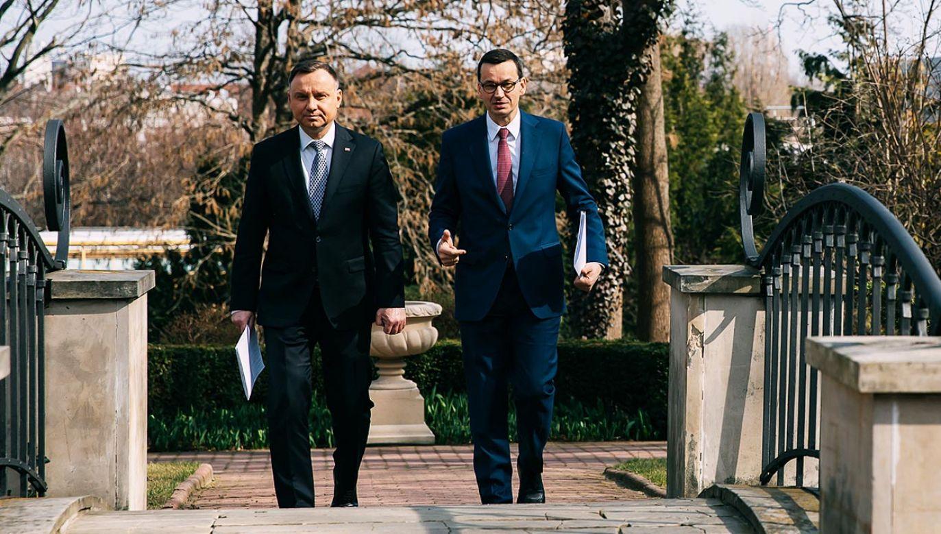 Prezydent odwiedził Katowice (fot. Krystian Maj/KPRM)