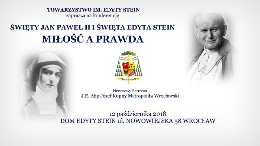 św Jan Paweł Ii I św Edyta Stein Miłość A Prawda