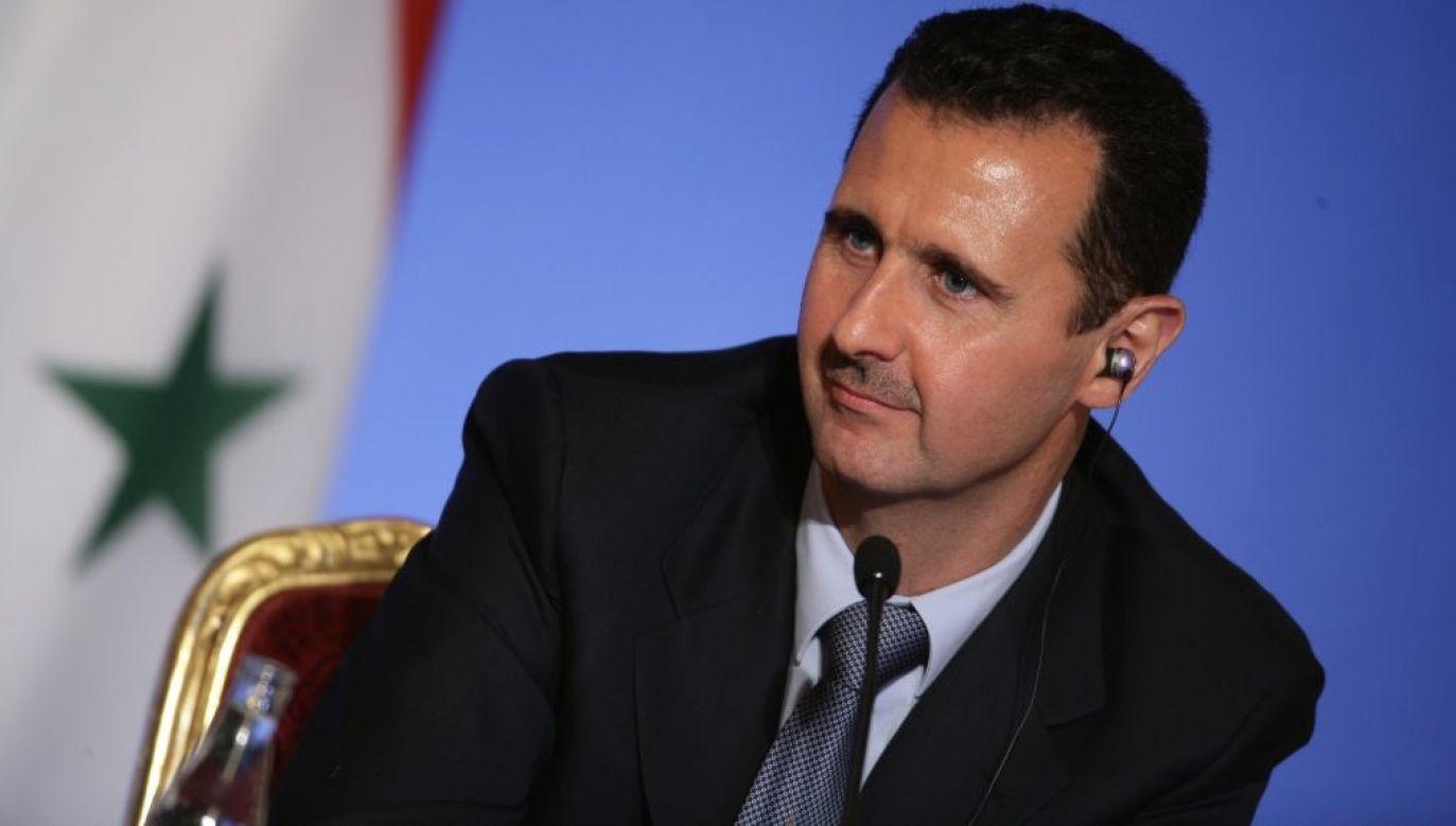 Państwowe media syryjskie nie wspominają o stanie zdrowia Asada (fot. Pool BENAINOUS/HOUNSFIELD/Gamma-Rapho via Getty Images)