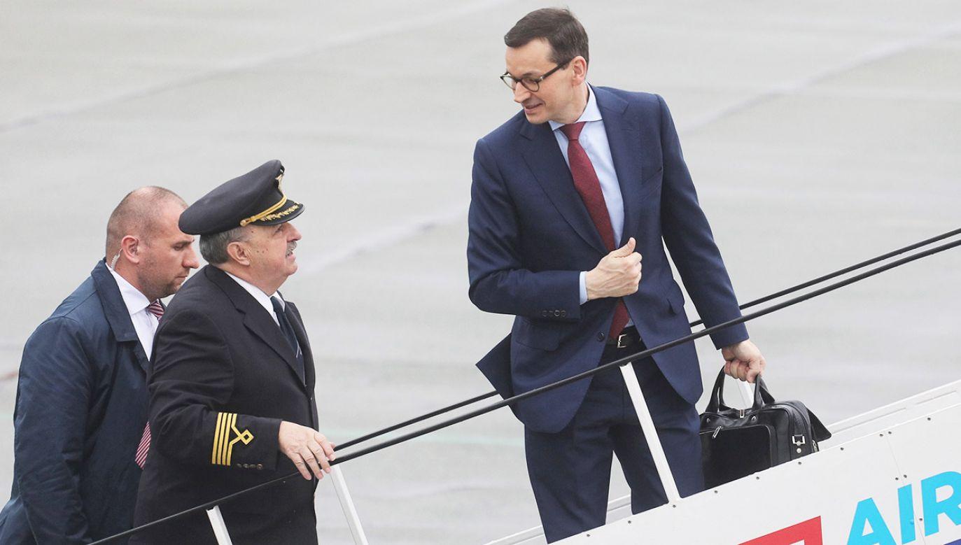Premier Mateusz Morawiecki w trakcie 20 miesięcy swojego urzędowania odbył ponad 200 lotów (fot. arch.PAP/Paweł Supernak)