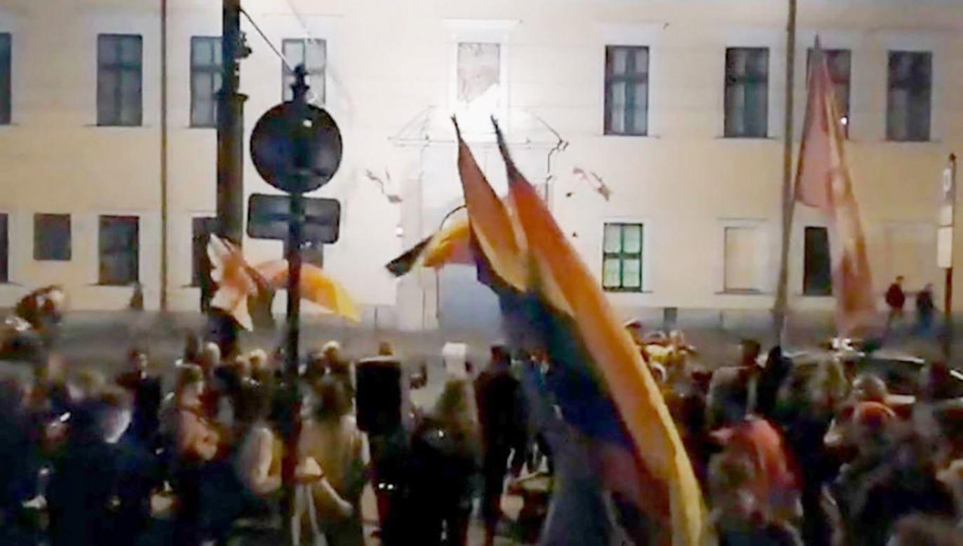 Uczestnicy protestu (fot. tt/@kobuz3)