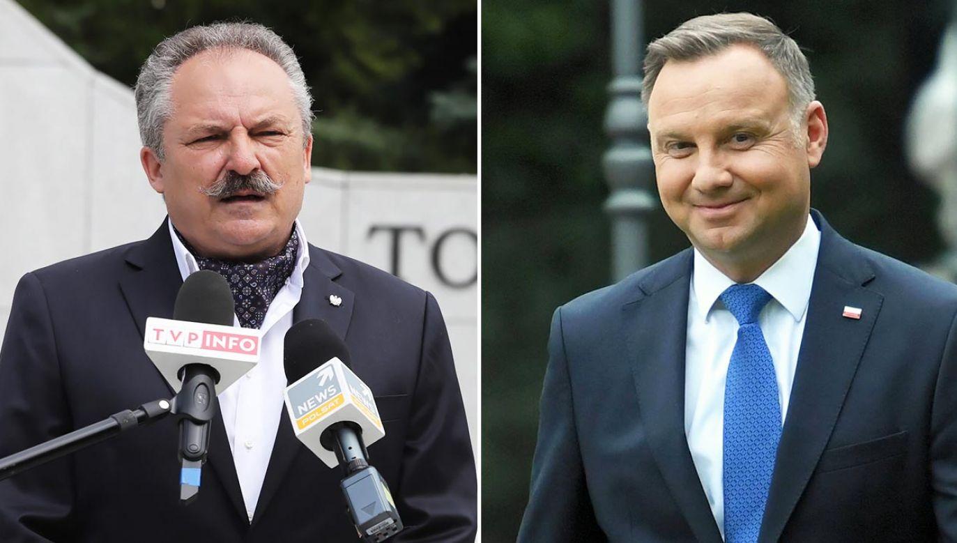 """Duda jest dla """"miażdżącej większości"""" członków i sympatyków FdR """"bardzo bliski"""" (fot. PAP/Tomasz Gzell, Piotr Nowak)"""