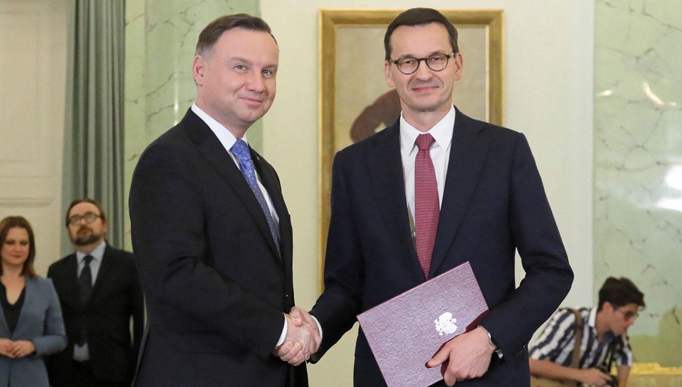 We wtorek Morawiecki złożył na ręce prezydenta dymisję poprzedniego rządu (fot. PAP/Paweł Supernak)