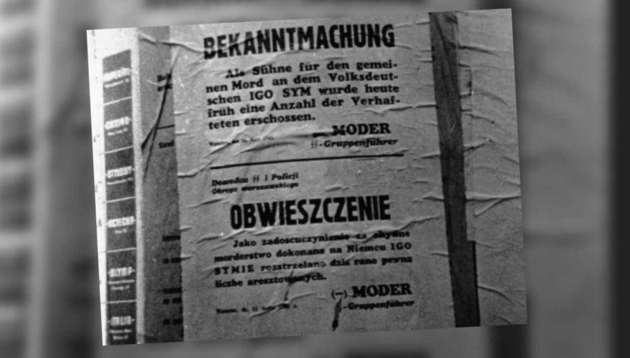 Po śmierci Syma Niemcy wzmogli terror (fot. NAC)