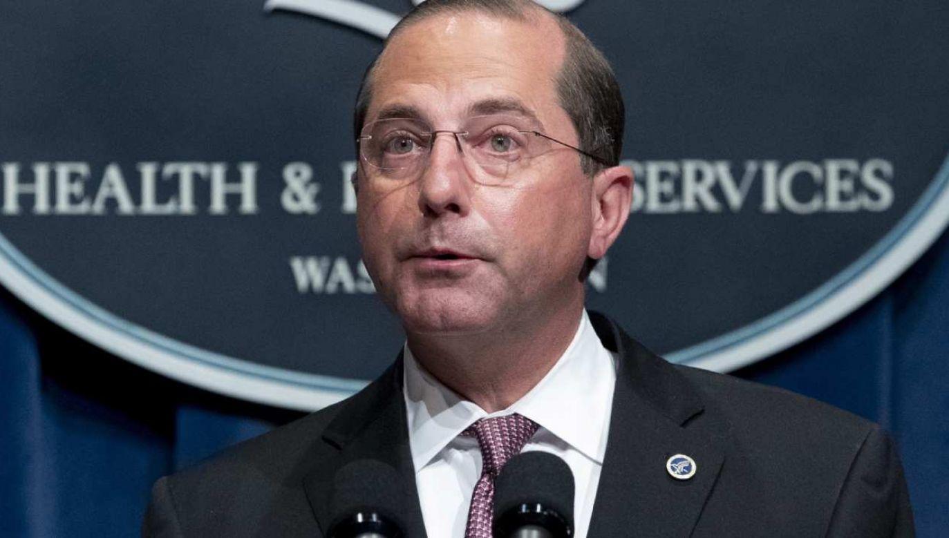 Alex Azar będzie pełnił obowiązki do czasu inauguracji prezydenta Joe Bidena (fot. EPA/MICHAEL REYNOLDS )