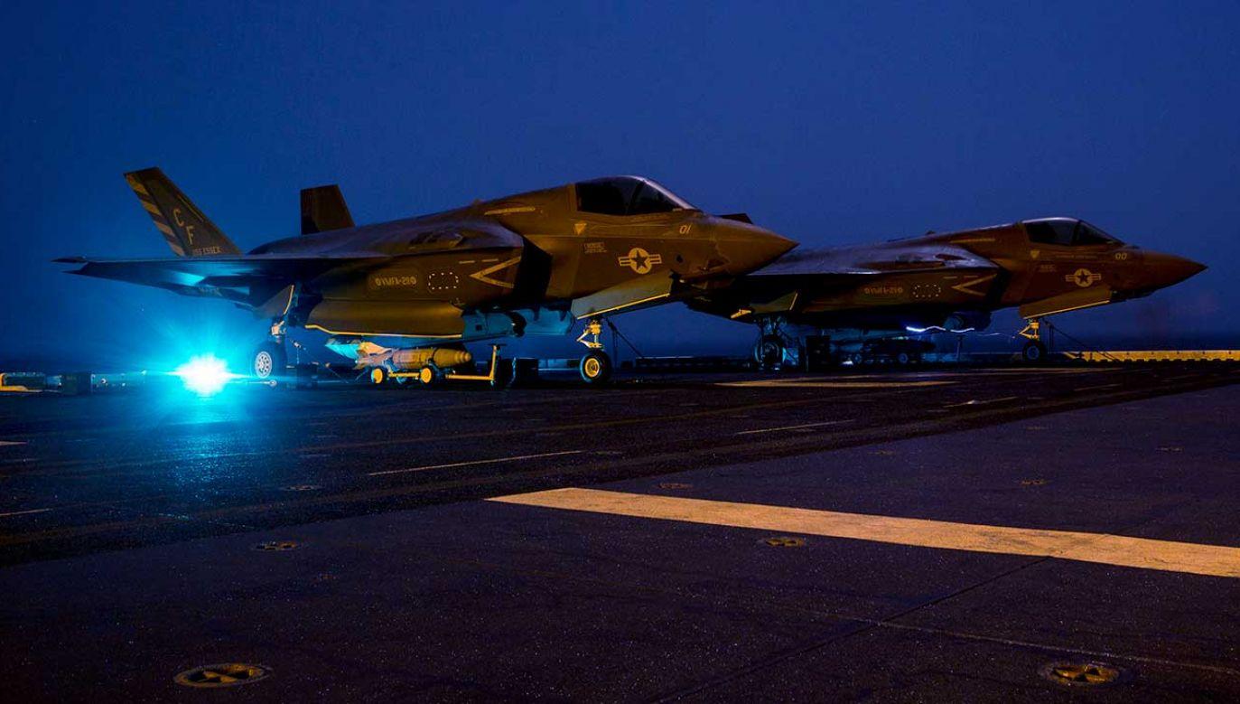 Do Polski mają trafić 32 myśliwce F-35 (fot. Cpl. A. J. Van Fredenberg/U.S. Marine Corps/Getty Images)