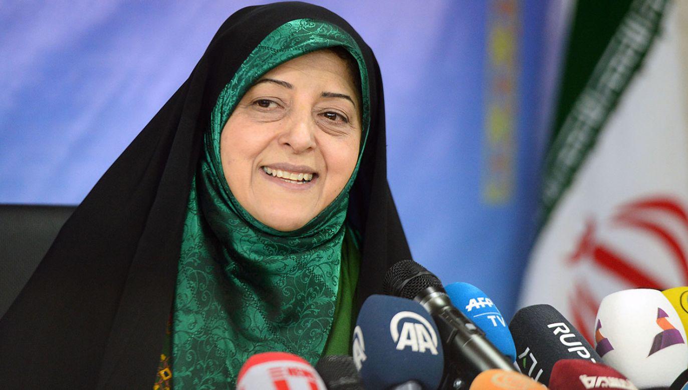 Masumeh Ebtekar to czwarty polityk w tym kraju, u którego badania na obecność patogenu dały wynik pozytywny (fot. Fatemeh Bahrami/Anadolu Agency via Getty Images)