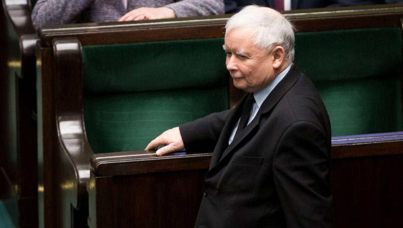 Partia Jarosława Kaczyńskiego z największym poparciem Polaków (fot. Mateusz Wlodarczyk/NurPhoto via Getty Images))