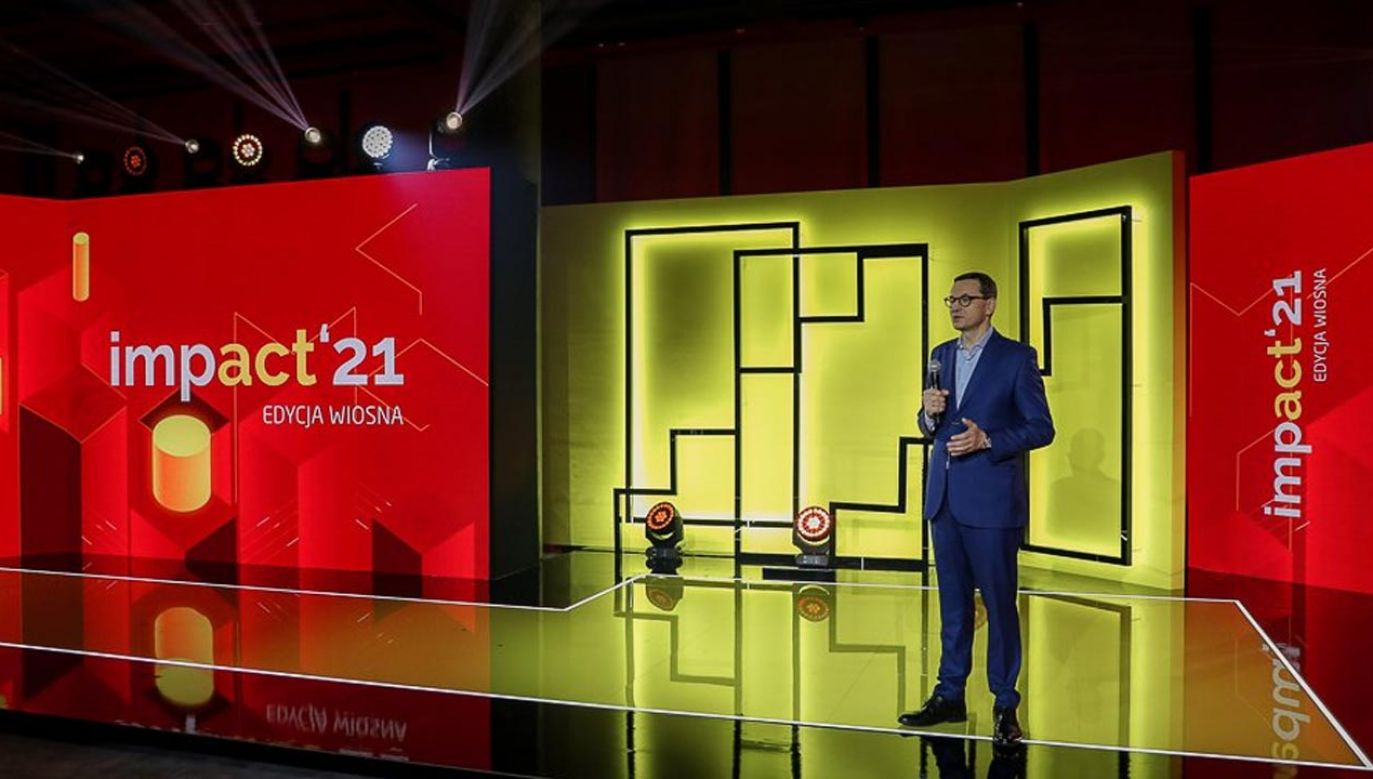 Premier odniósł się do polskiej gospodarki na kongresie Impact'21 (fot. Krystian Maj/KPRM)