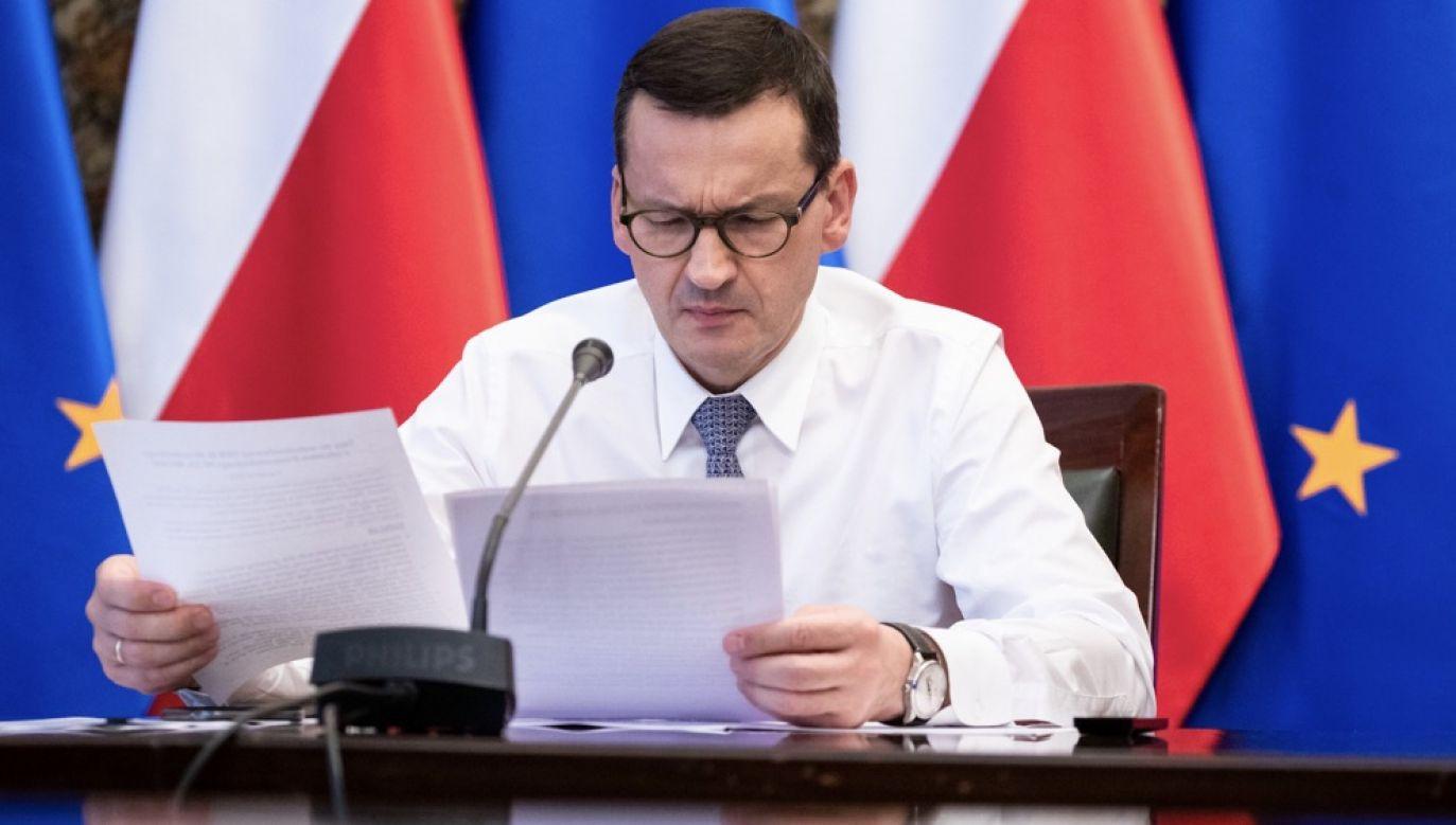 Szef rządu Mateusz Morawiecki (fot. KPRM)
