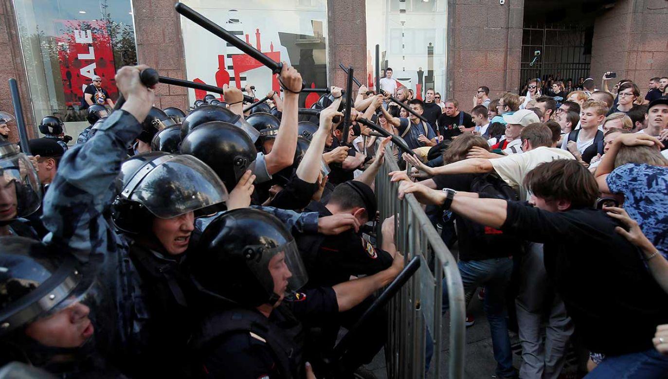 Demonstracja na ulicach Moskwy (fot.  REUTERS/Maxim Shemetov)