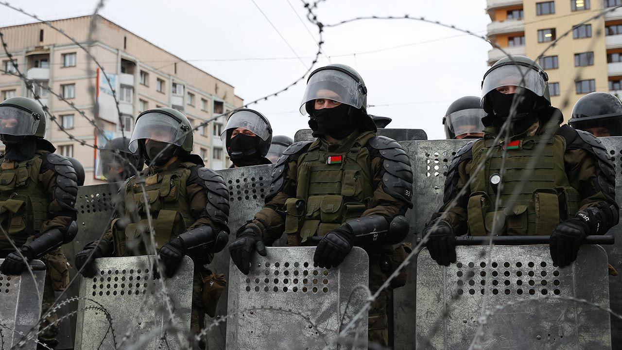 Zatrzymania dziennikarzy na Białorusi (fot. Forum/TASS/Stringer)