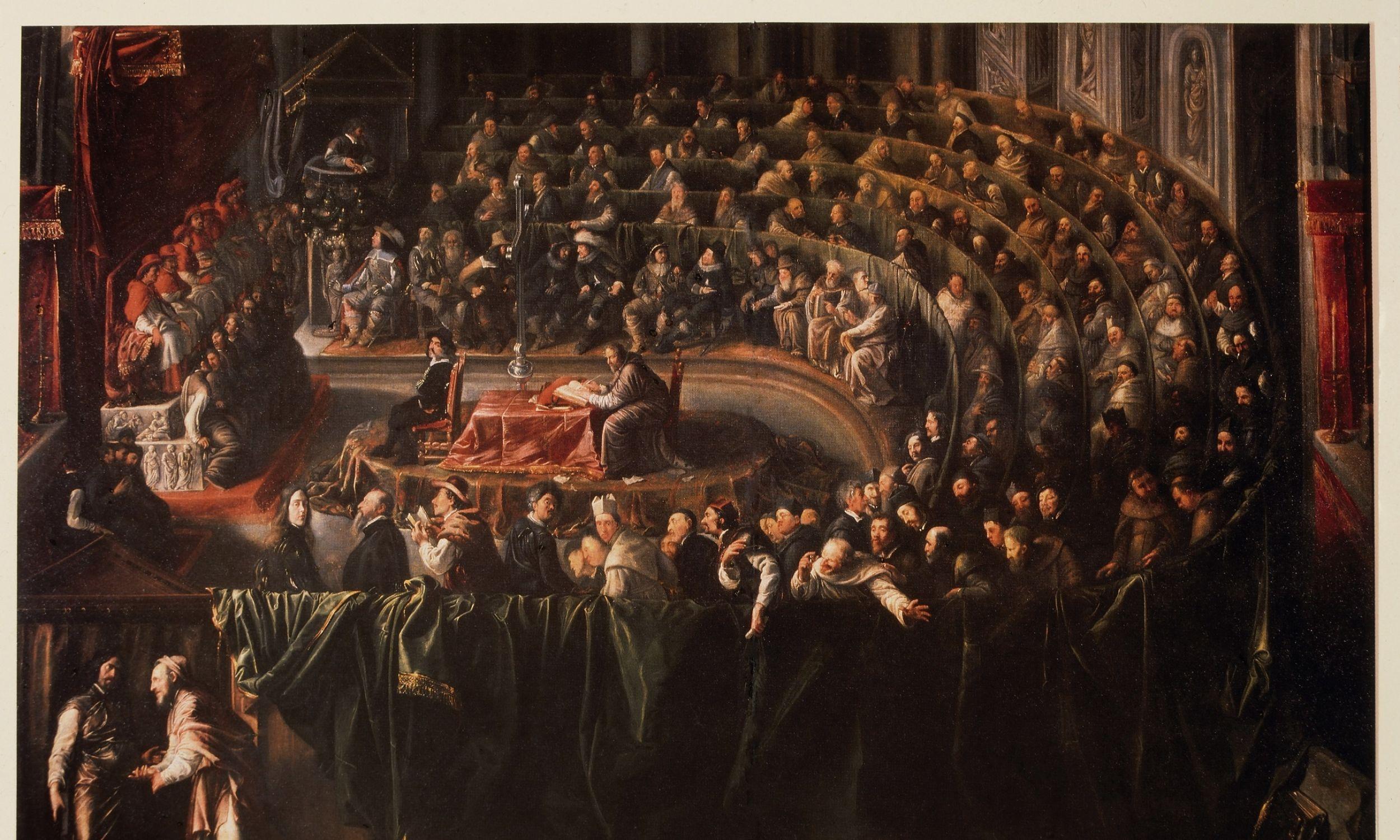 Sąd nad Galileuszem, Rzym, 1633, szkoła włoska. Fot. Universal History Archive / Universal Images Group via Getty Images