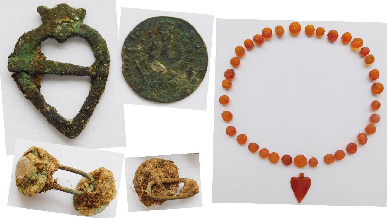Odnalezione przedmioty są poddawane konserwacji (fot.TT/GDDKiA Olsztyn)