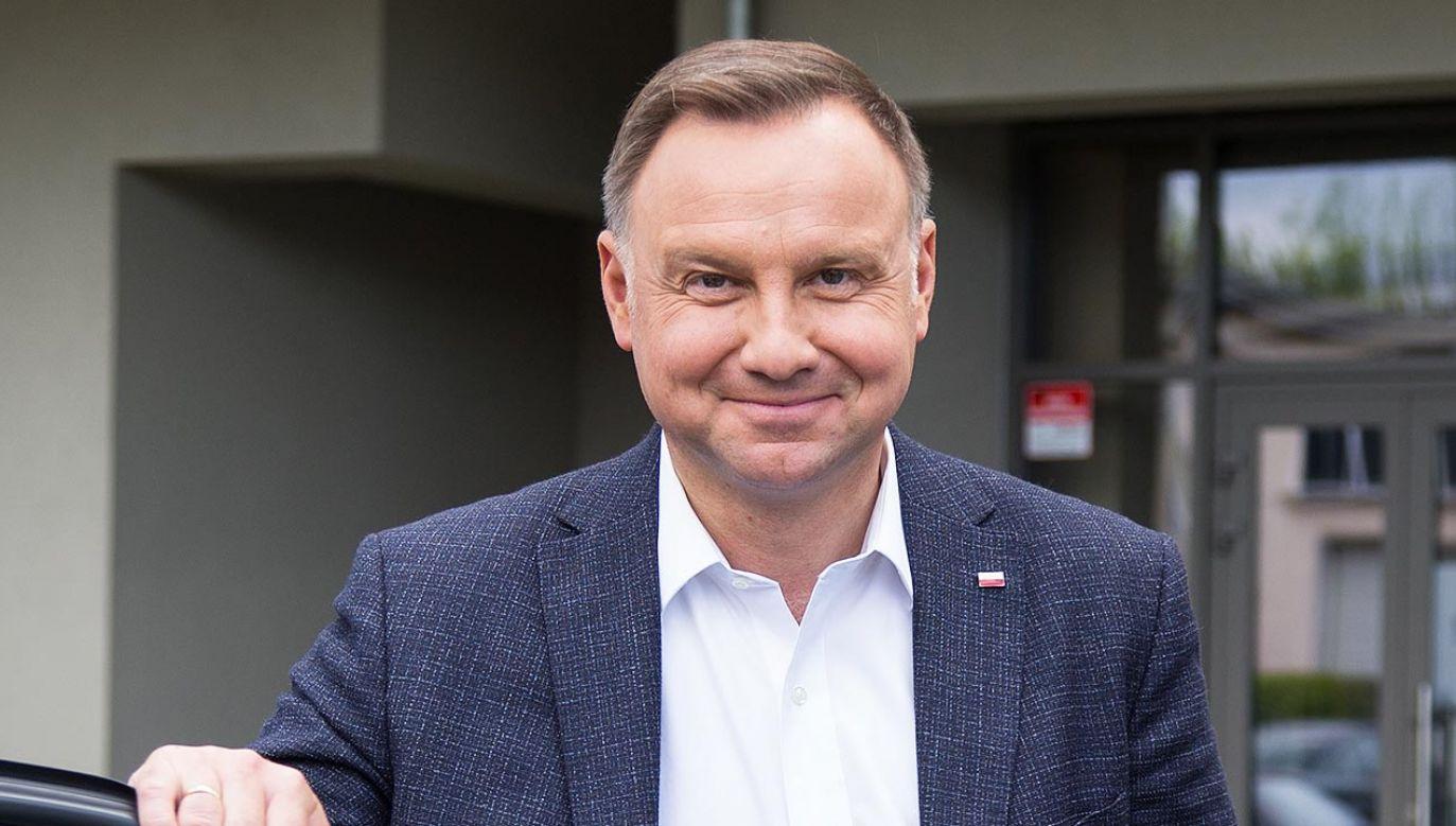 Andrzej Duda opowiadał o minionej kampanii prezydenckiej (fot. Forum/Tomasz Jagodziński)