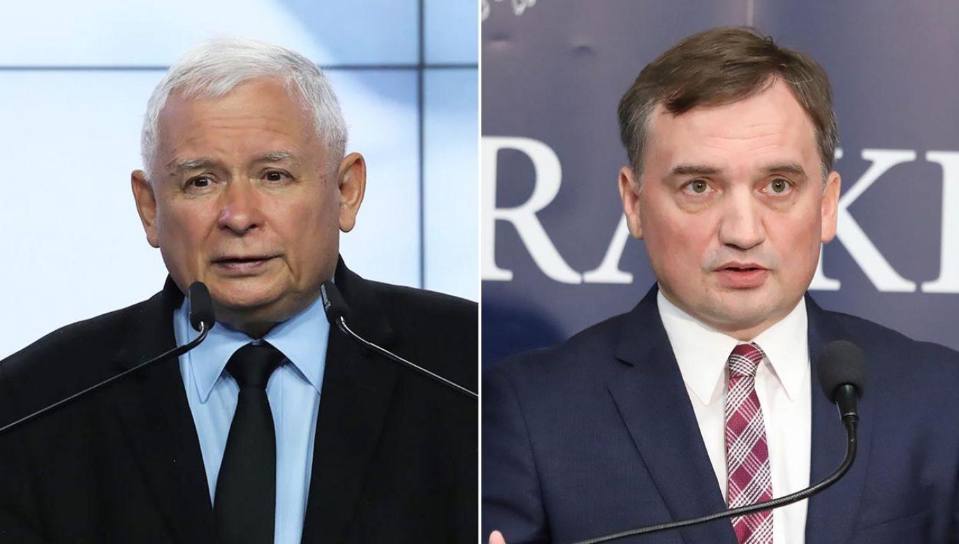 Prezes PiS przedstawił liderowi SP warunki dalszego trwania koalicji (fot. PAP/Tomasz Gzell)