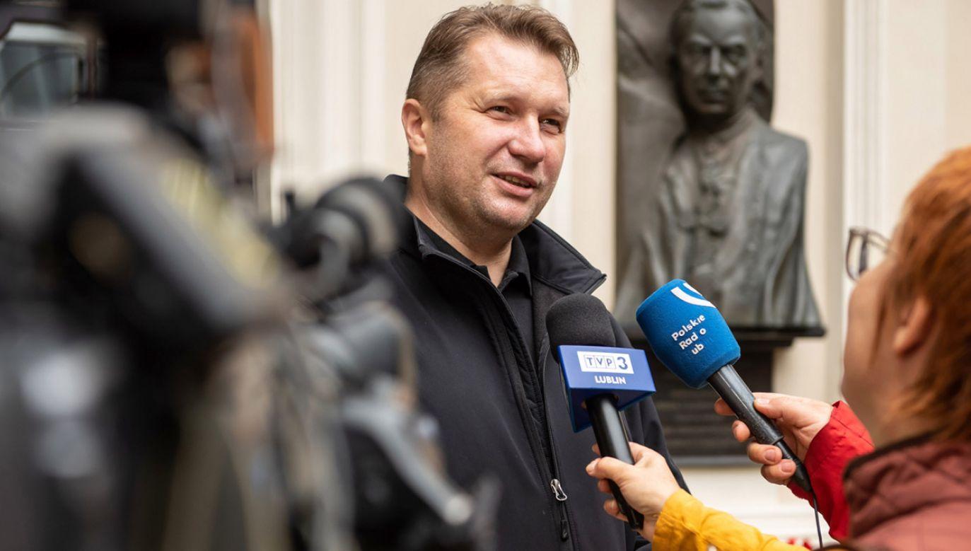 Przemysław Czarnek komentuje występ Donalda Tuska na konwencji PO (fot.  PAP/Wojtek Jargiło)