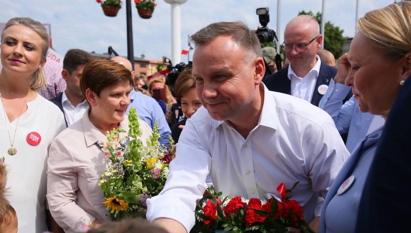 Była premier Beata Szydło zaapelowała o głosowanie na Andrzeja Dudę (fot. PAP/Tomasz Wojtasik)