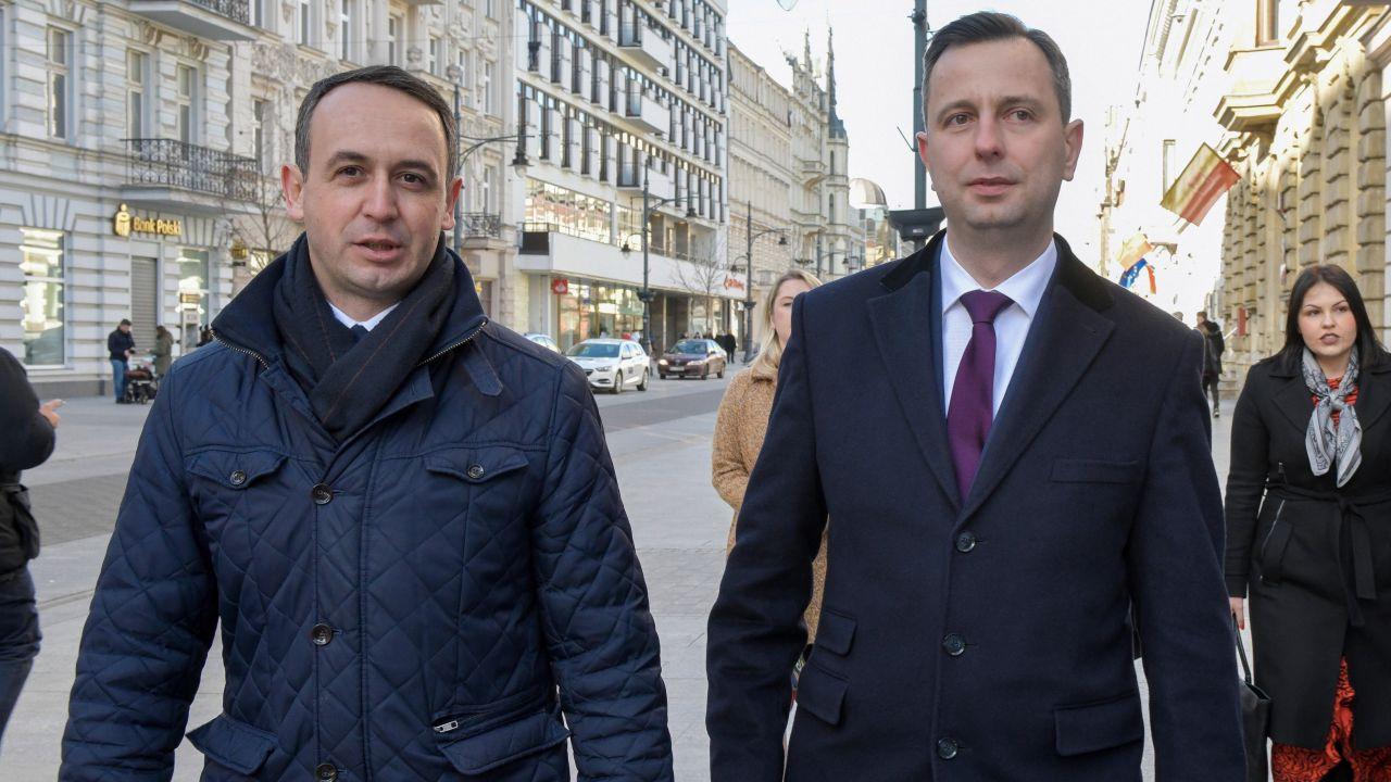 Dariusz Klimczak i Władysław Kosiniak-Kamysz (fot. arch PAP/Grzegorz Michałowski)