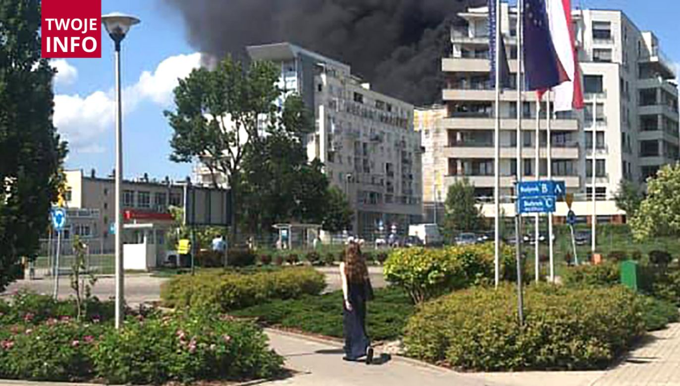 W efekcie pożaru nikt nie ucierpiał (fot. TWOJE INFO/ BASIA ORNATOWSKA)