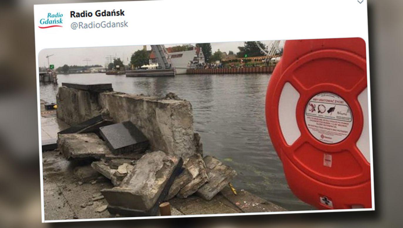 Jednostka nie została uszkodzona i popłynęła w kolejny rejs (fot. TT/Radio Gdańsk)