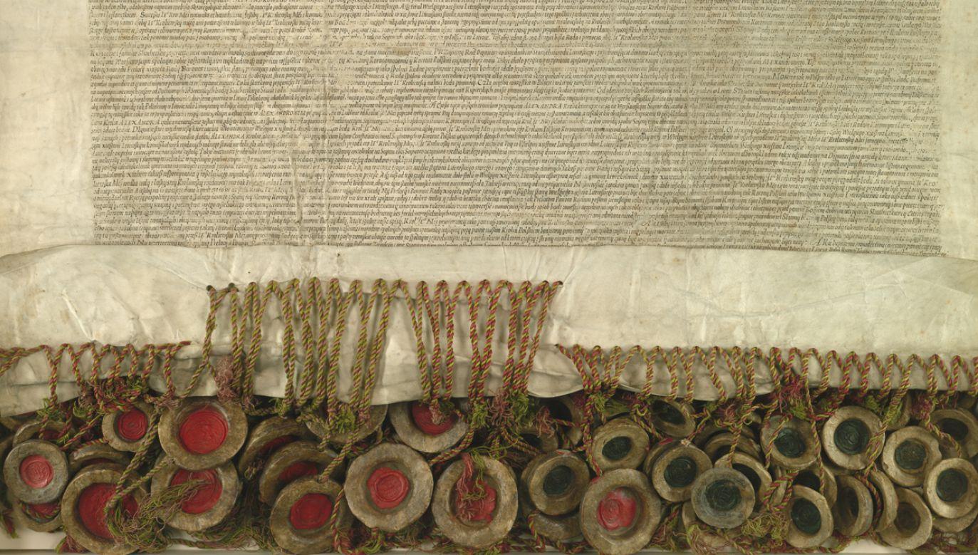 450 lat temu nasi przodkowie zdecydowali o stworzeniu jednej wspólnej Rzeczypospolitej Obojga Narodów (fot. Wikimedia Commons/Archiwum Główne Akt Dawnych)
