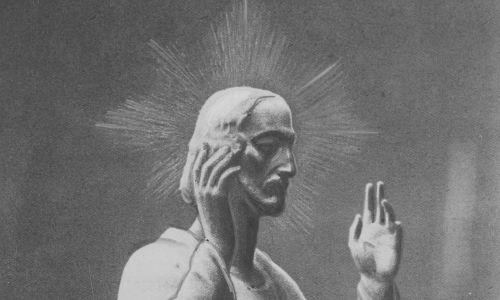 W centralnym miejscu znajdowała się figura Chrystusa. Fot. NAC/IKC