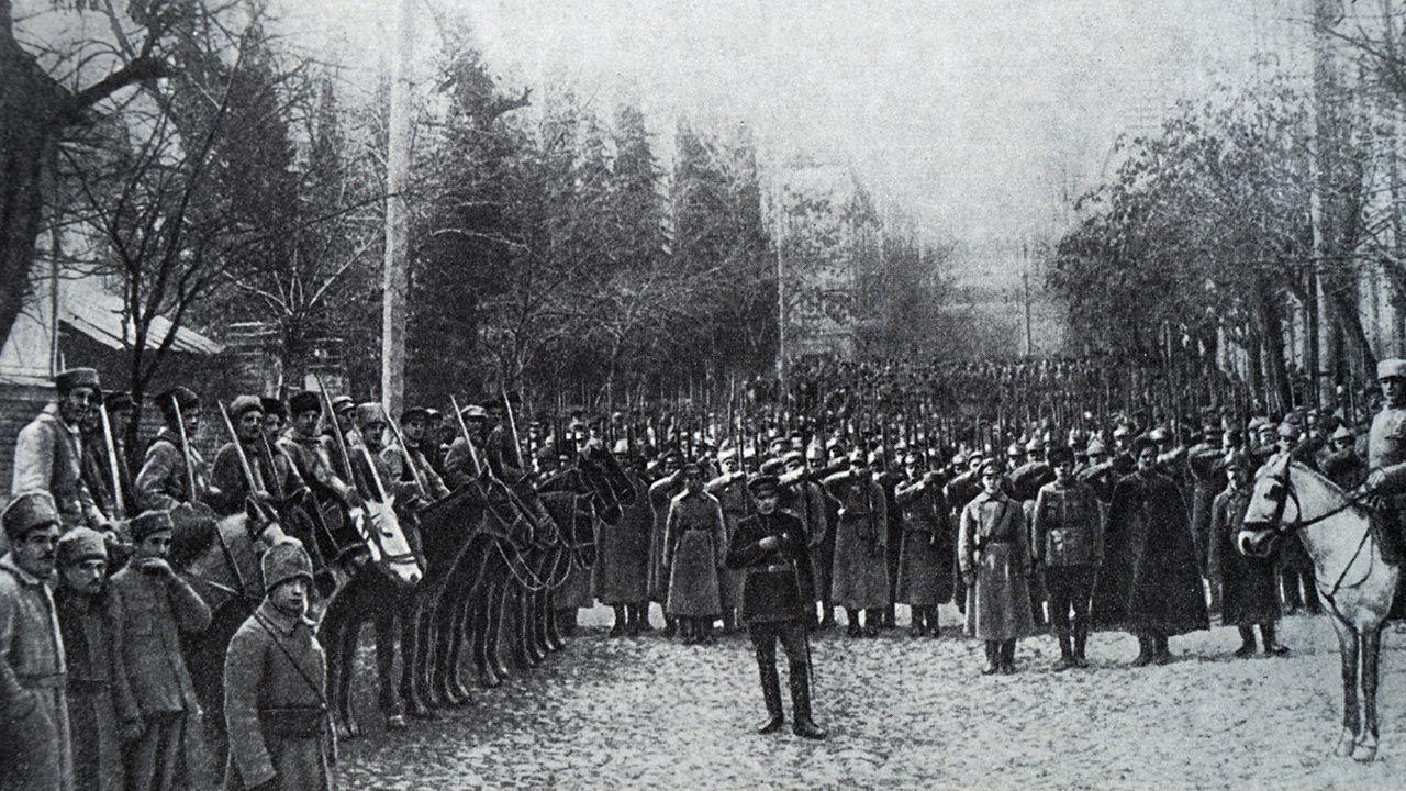 Gdyby nie wojna z Polską, bolszewicy podbiliby Gruzję już rok wcześniej (fot.  Universal History Archive/Universal Images Group via Getty Images)