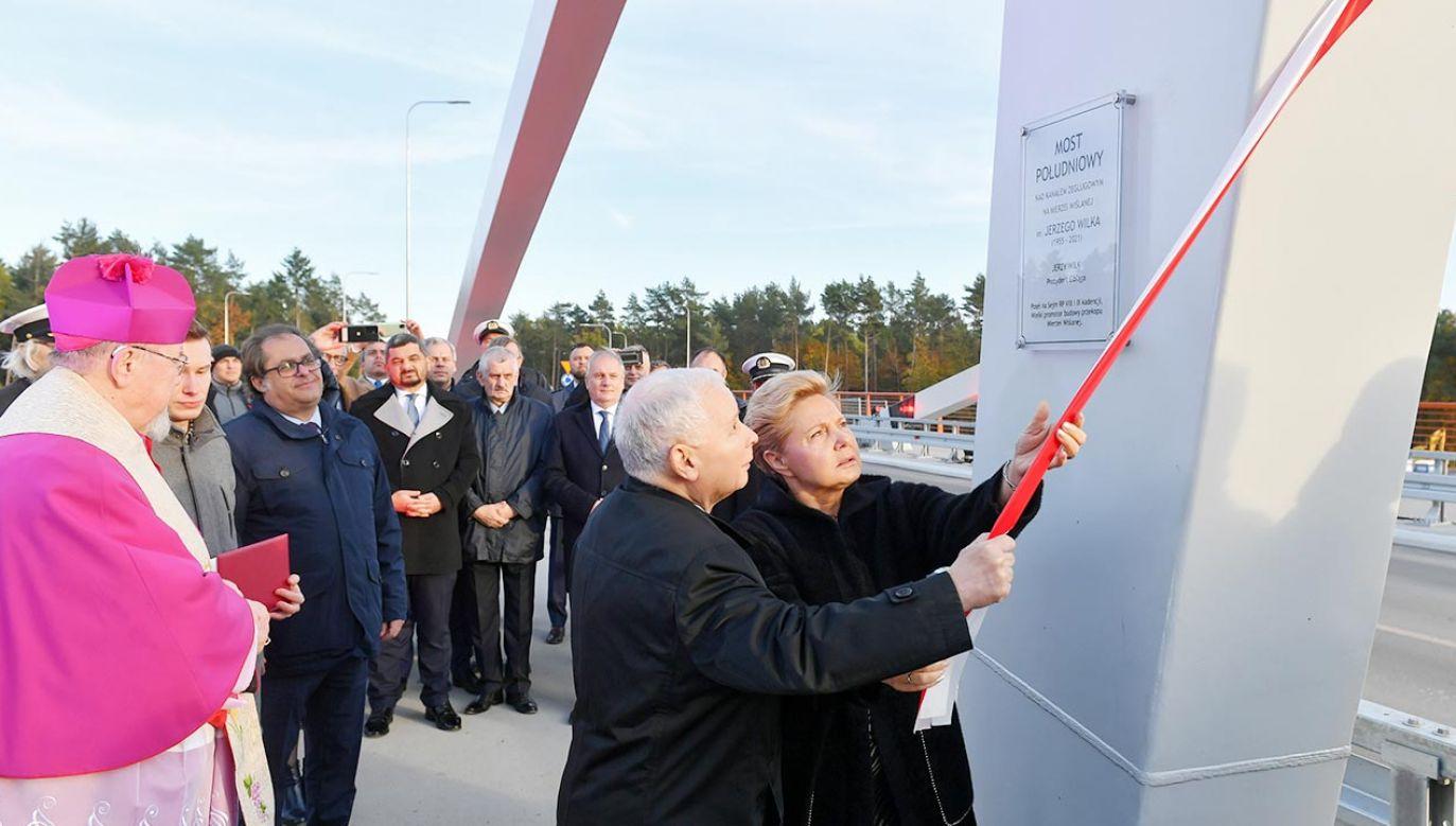 Jerzy Wilk patronem mostu (fot. PAP/Adam Warżawa)