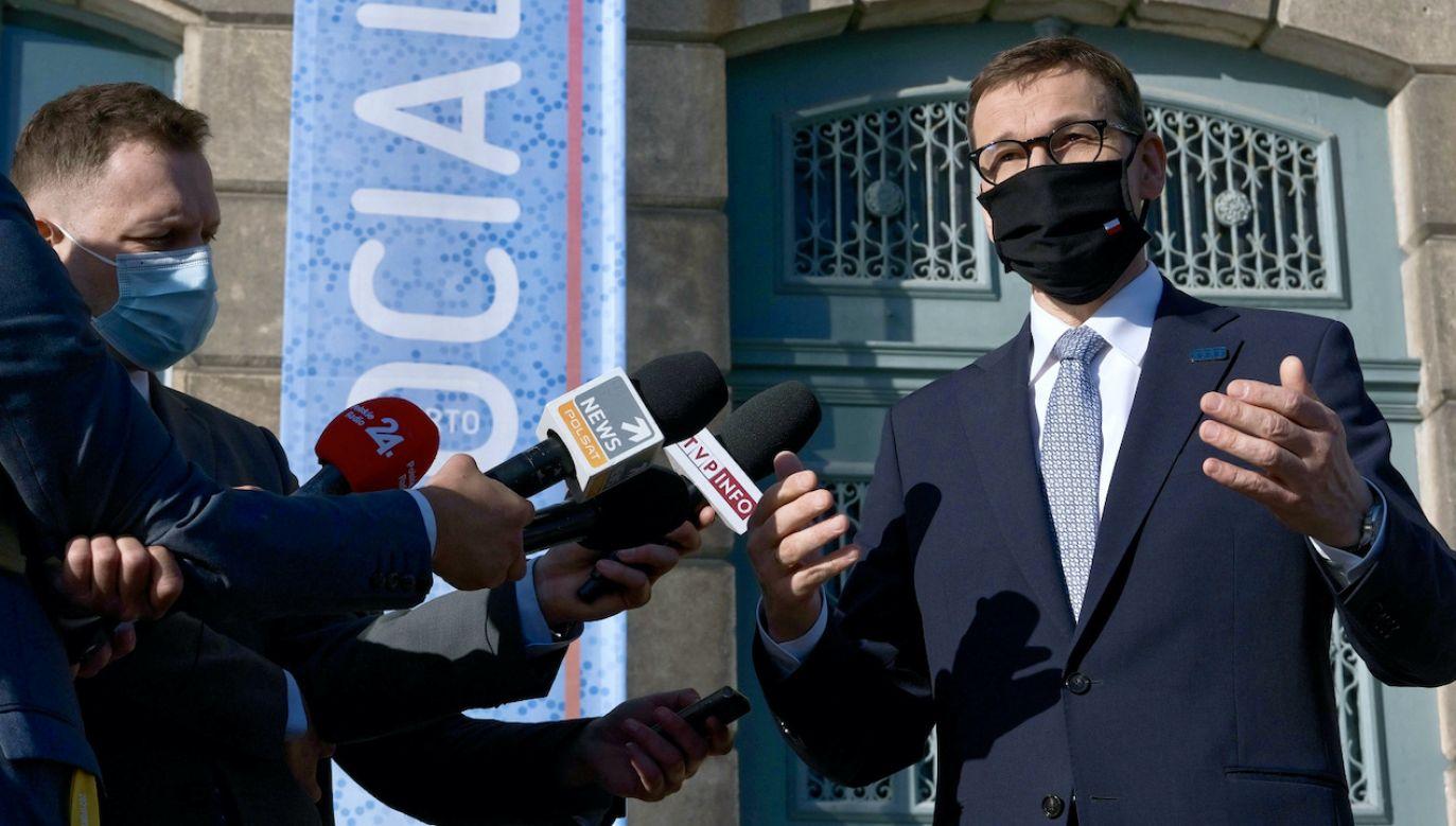 Premier Mateusz Morawiecki (fot. PAP/Mateusz Marek)