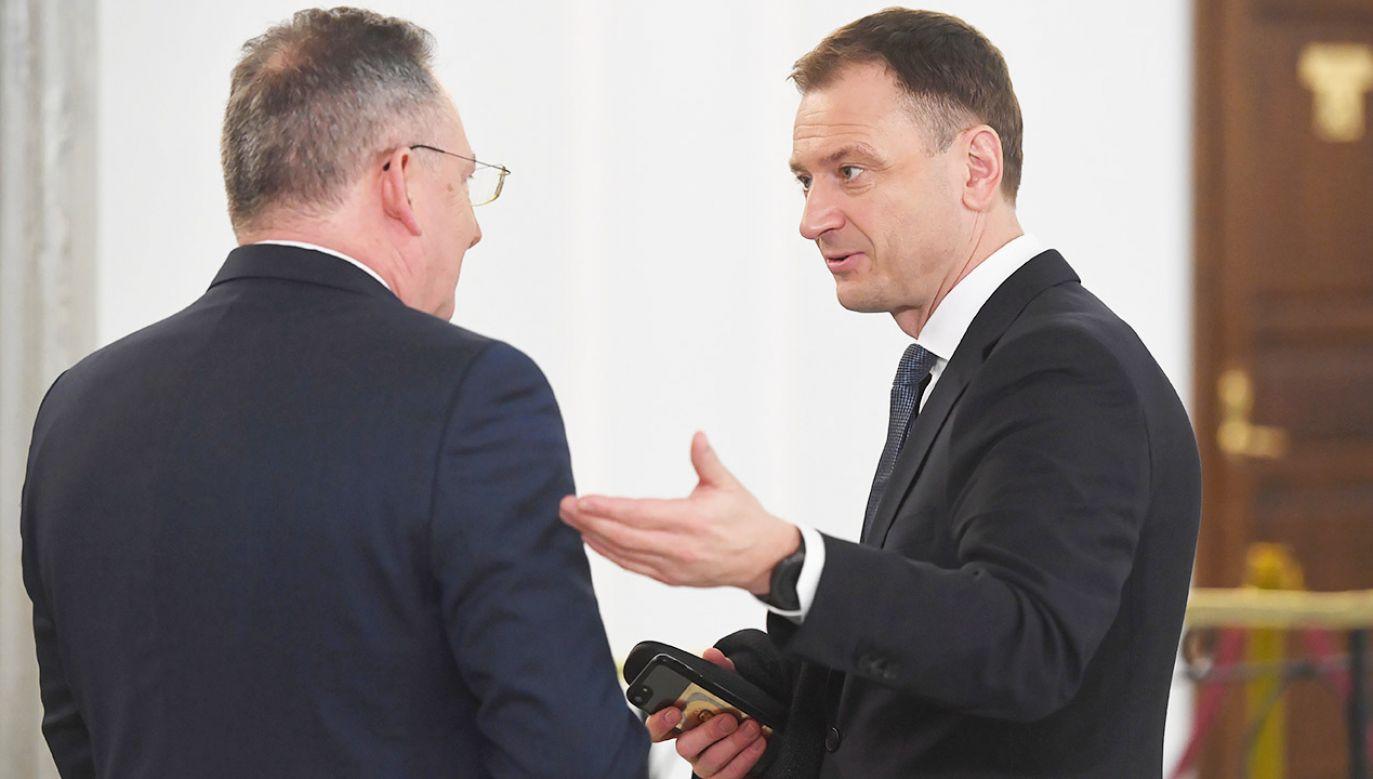 Najczęściej słychać było posła Nitrasa (fot. PAP/Radek Pietruszka)