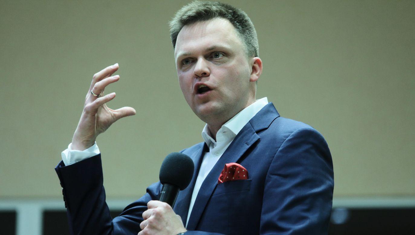 Szymon Hołownia prezentuje się jako kandydat niezależny PAP/Artur Reszko