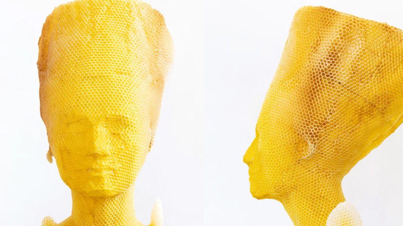Popiersie oparte jest na modelu 3D oryginalnego portretu egipskiej królowej (fot. mat. pras.)