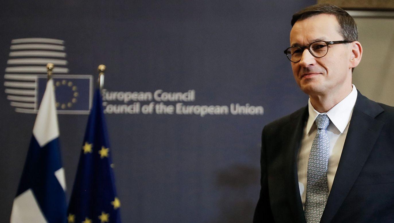 Mateusz Morawiecki uczestniczył w dwudniowym szczycie Rady Europejskiej w Brukseli (fot. PAP/Leszek Szymański)