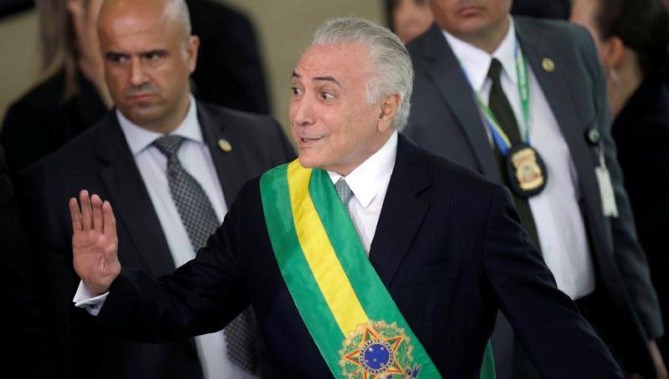 Były prezydent Brazylii Michel Temer (fot. REUTERS/Ueslei Marcelino)