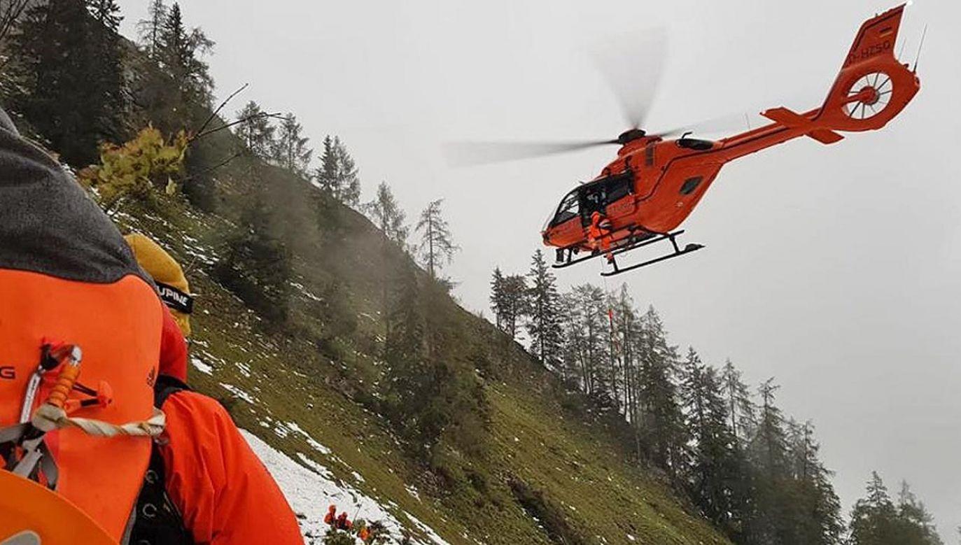Turysta przeżył, ale jest ciężko ranny (fot. Facebook/ BRK Kreisverband Berchtesgadener Land)