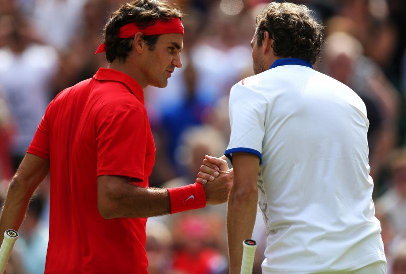 W drugiej rundzie przeciwnikiem Federera był Francuz Julien Benneteau (fot. Getty Images)