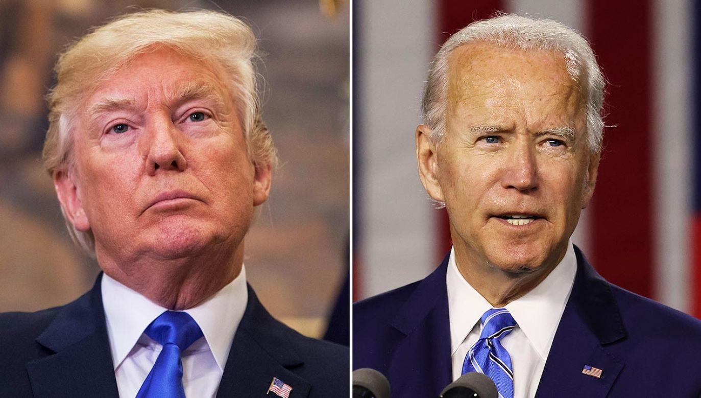 Izraelczycy ocenili Trumpa i Bidena (fot. Zach Gibson - Pool/Getty Images; Chip Somodevilla/Getty Images)