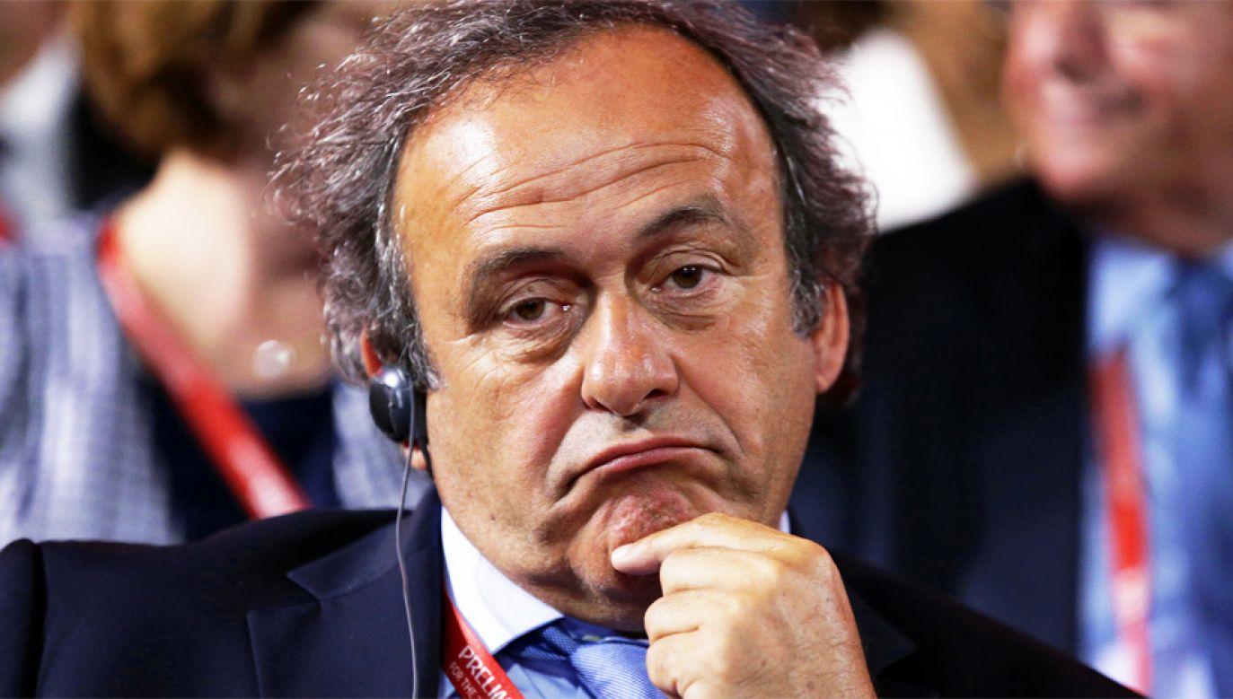 Michel Platini otrzymywał w przeszłości podejrzane przelewy (fot. PAP/EPA/TATYANA ZENKOVICH)