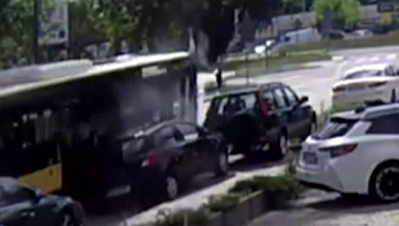 Kierowca autobusu był pod wpływem narkotyków (fot. TVP Info)