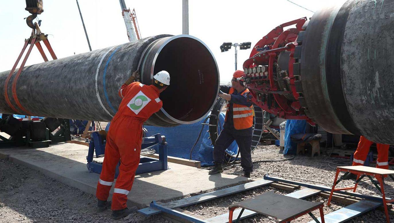 Przeciwko budowie niemiecko-rosyjskiego gazociągu od początku protestują polskie władze (fot. REUTERS/Anton Vaganov)
