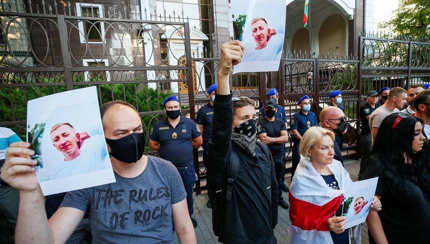 W manifestacji uczestniczyło kilkaset osób (fot. FORUM/REUTERS/GLEB GARANICH)